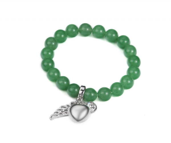 Jade bead stretch charm bracelet-High quality!