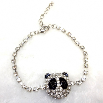 Diamante Panda Shaped Lovely Bracelet