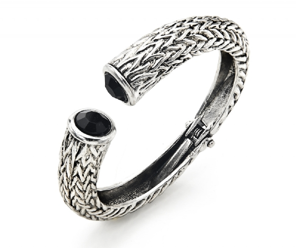 Vintage style antique silver bangle