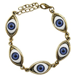 Bronze Blue Evil Eyes Bracelet