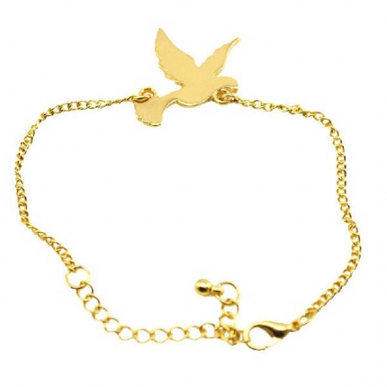 Super Stylish golden tone bird bracelet
