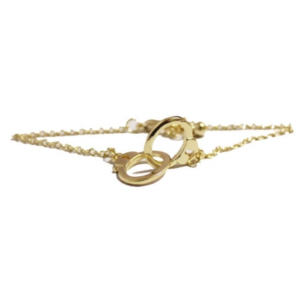 Golden Handcuff Shaped Bracelet.