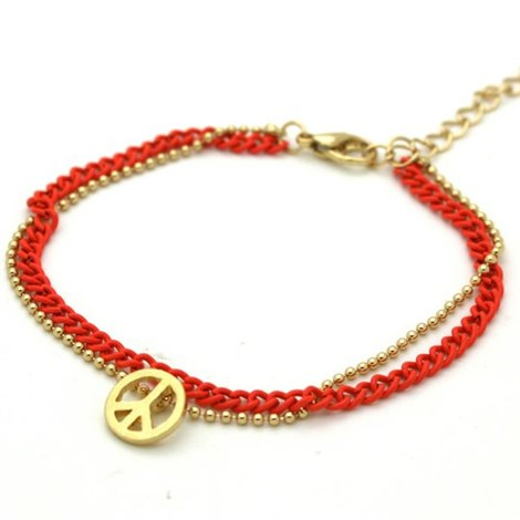 Orange & Gold Peace Bracelet