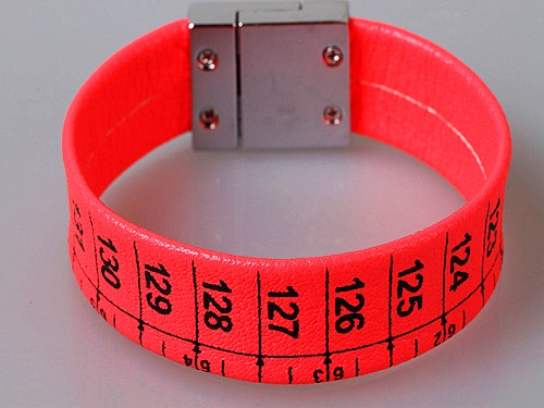 Tape Measure Magnetic Neon Bracelet Orange Colour