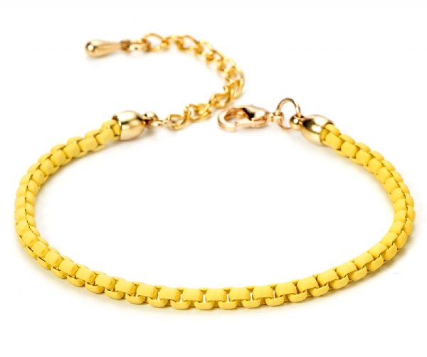 Yellow Alloy bracelet with gold finish